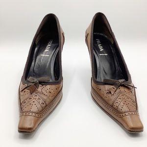 Prada pointy toed shoes